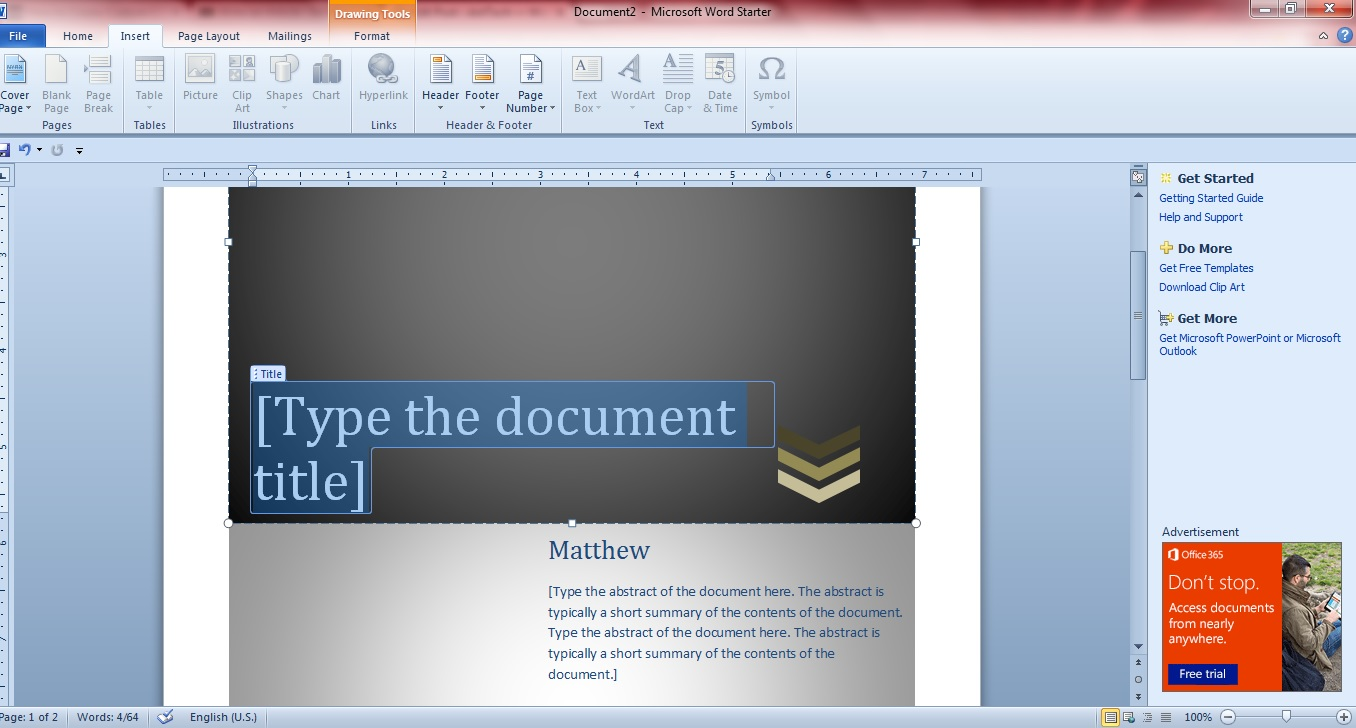 cover pages for word 2007 free download