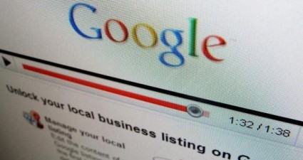 One of the business sites of internet search engine Google Inc is shown on a computer screen in Encinitas