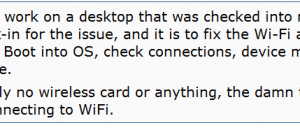 wifi not connecting