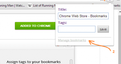 Add Tags to Bookmarks Step One Two