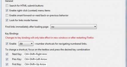 Firefox navigation hotkeys