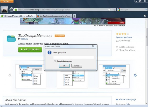 Firefox tab groups5