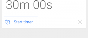 Google Now set a timer