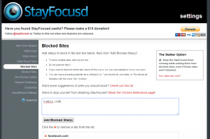 StayFocusd for Chrome