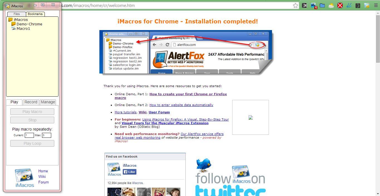 Browser macro recorder chrome