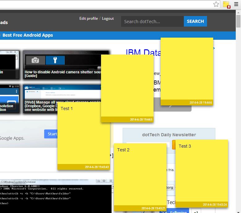 Add Sticky Notes on any Web Page Chrome b