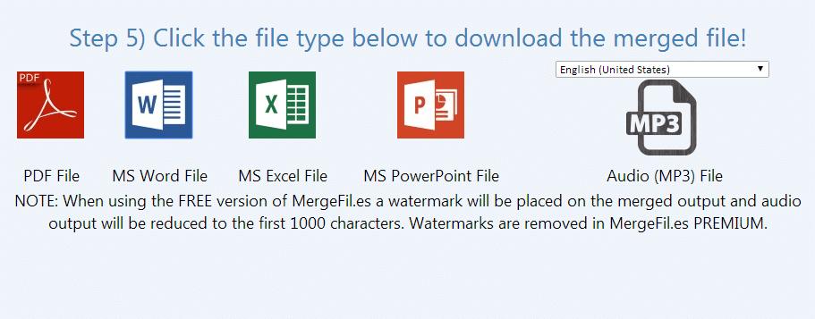 Merge DOC file with PDF