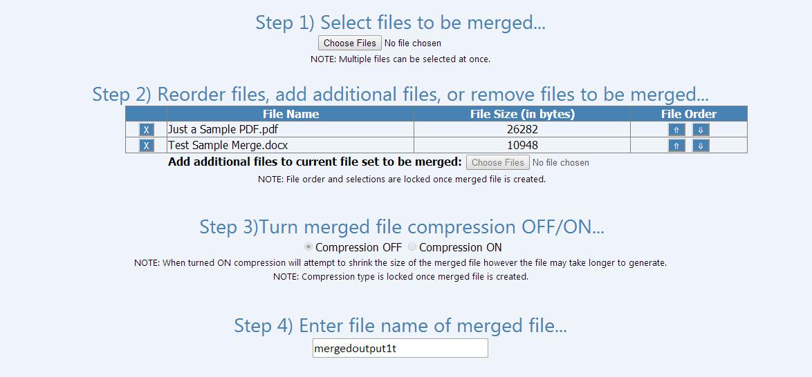 Merge Doc MS Word with PDF