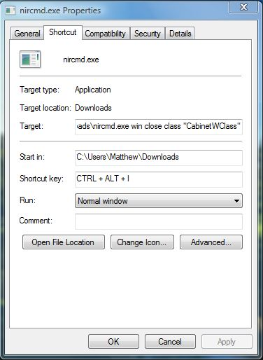 Windows explorer hotkey3