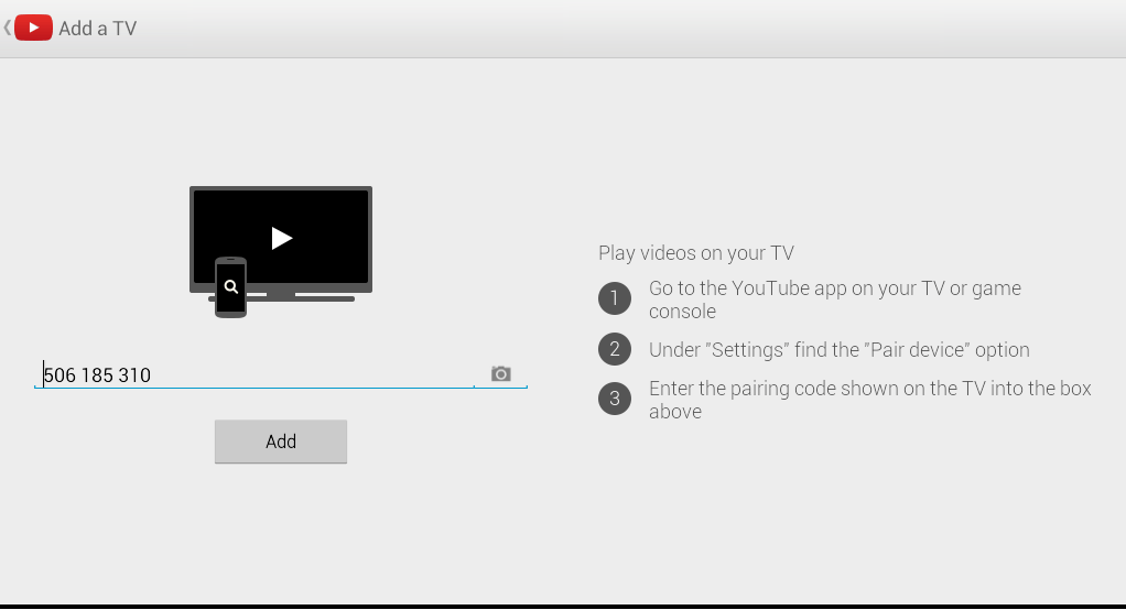 YouTube TV Pair Android
