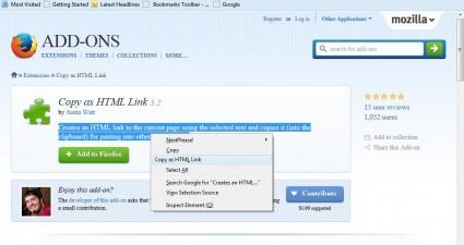 copy as HTML