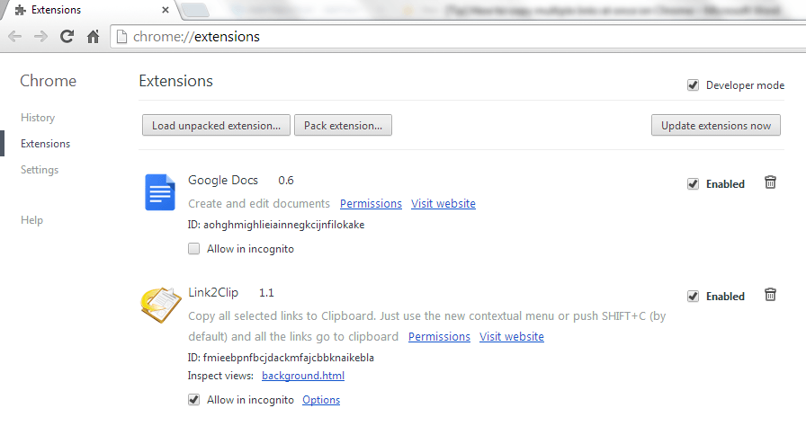 copy multiple links at once
