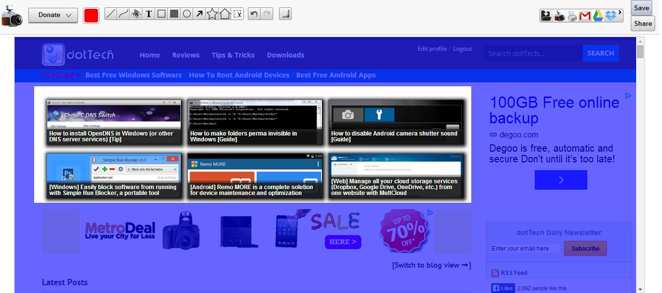 crop full page screenshot