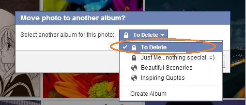 delete multiple photos on fb f