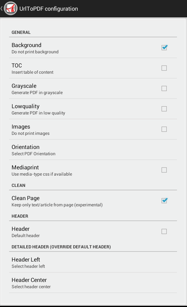 save web page as PDF Android d