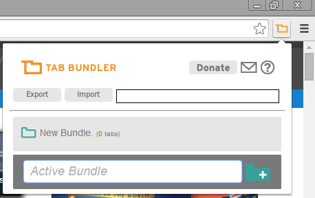 Create New tab bundle