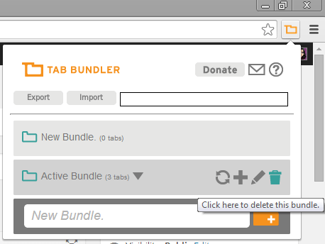Delete existing tab bundle
