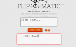 Flip-O-Matic Flip Text Upside Down