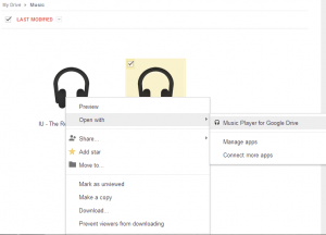 Music Player for Google Drive Chrome App