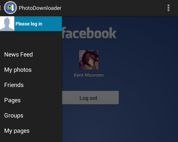 download all fb photos at once b