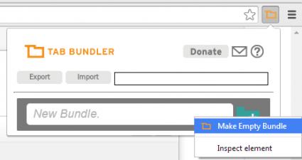make empty tab bundle