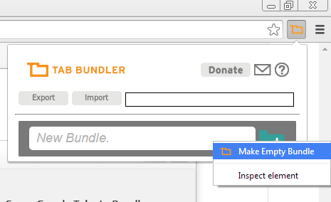 make empty tab bundle
