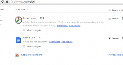search Chrome history by date