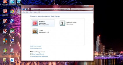 windows 7 account