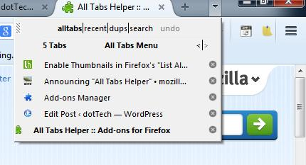 All Tabs