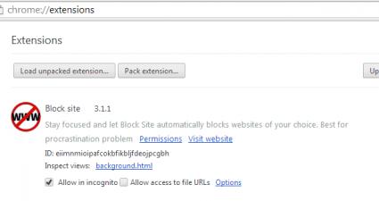 Block site for Chrome
