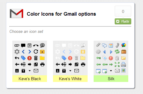 Color Icons for Gmail icon sets