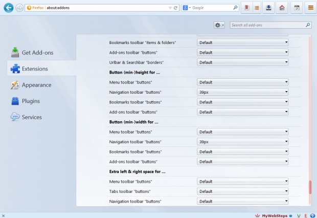 Firefox toolbar buttons4