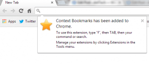 Open bookmarks from right click menu Chrome