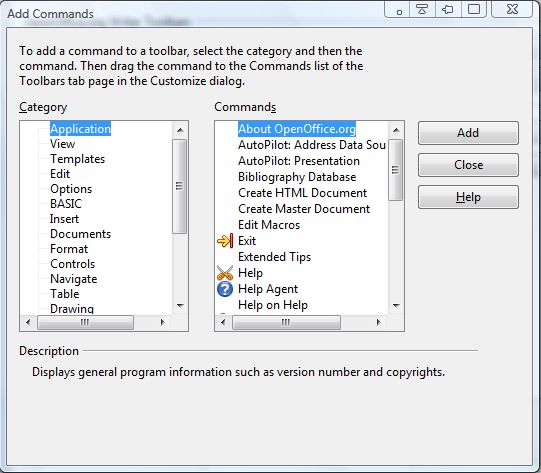 OpenOffice toolbar5