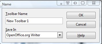 Openoffice toolbar4