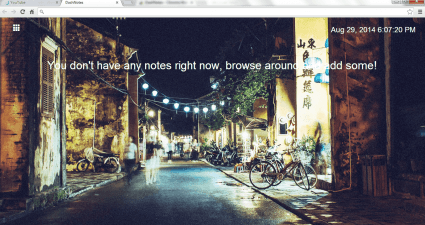 Pin text notes to new tab page Chrome