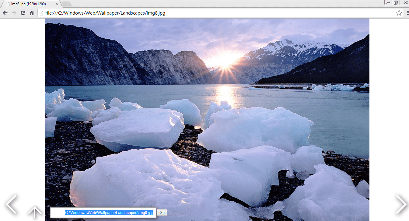 View local images in Chrome c