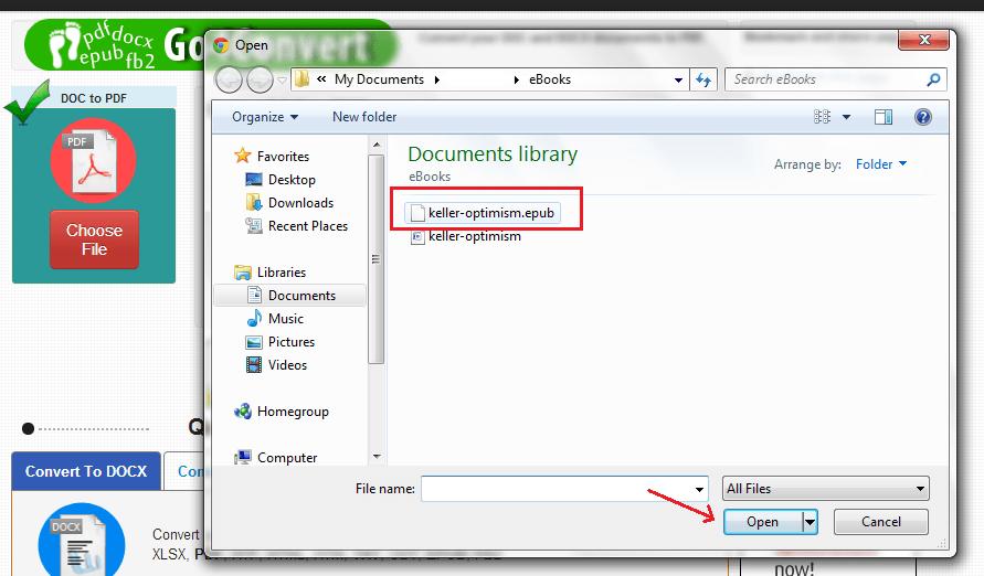 convert EPUB to PDF online b