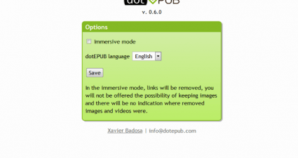 dotEPUB for Chrome extension