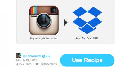 save Instagram to Dropbox