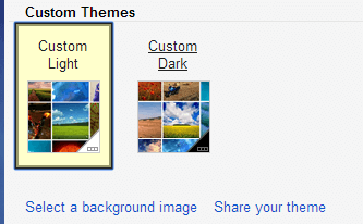 select a background image Gmail