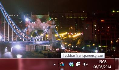 taskbar transparency