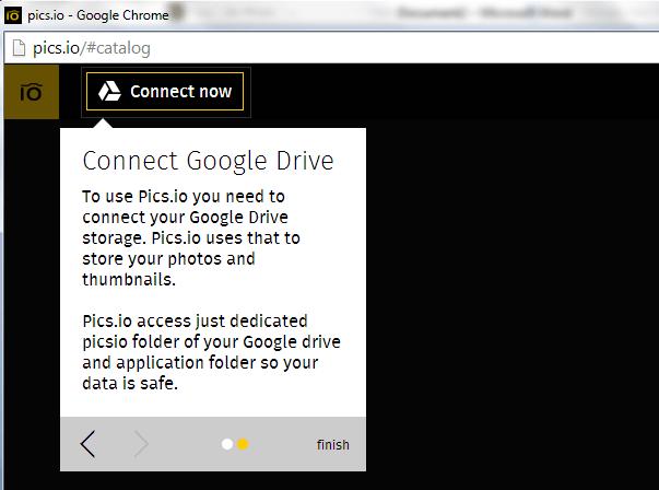 Connect Pics io to Google Drive