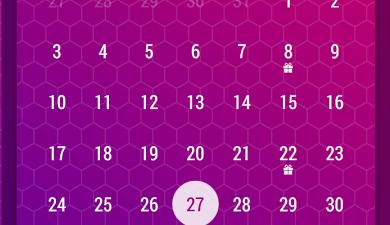 Month Calendar Widget