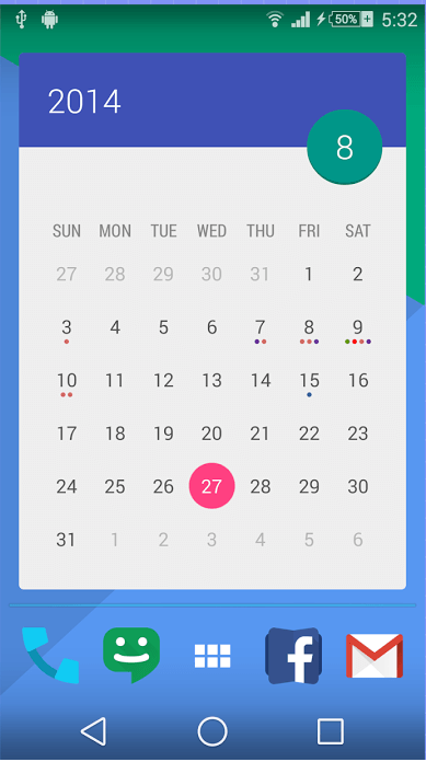 android get 70 beautiful calendar widget themes with month reviews news tips and