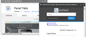 Open tabs as floating panels b