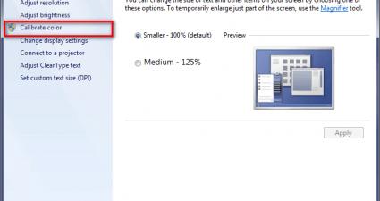 WindowsXdispalyXcalibration