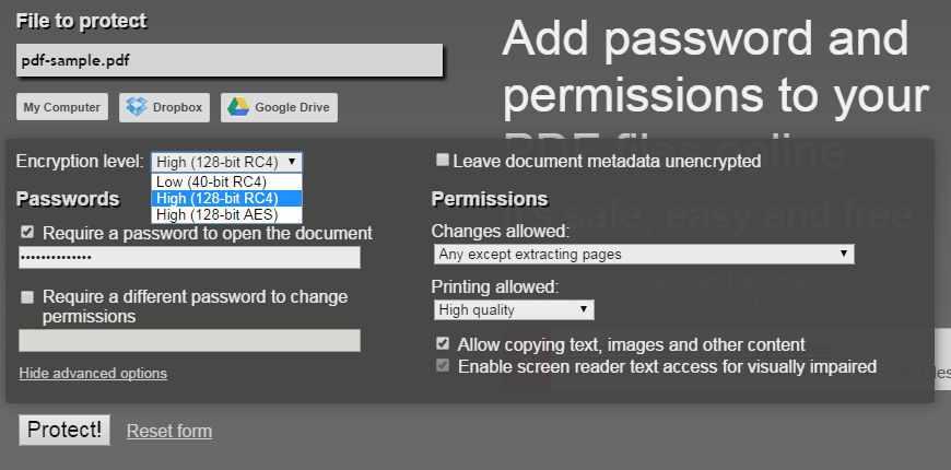passwordXprotectXPDFXb