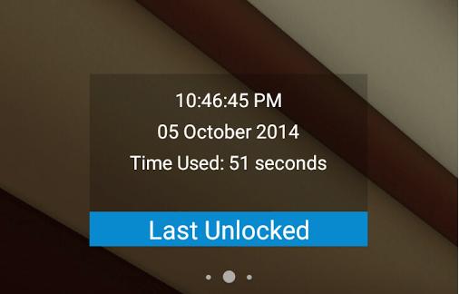 Check unlock history Android c
