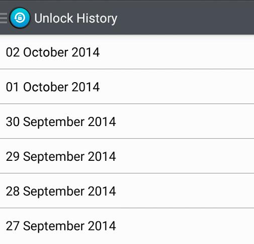 Check unlock history Android